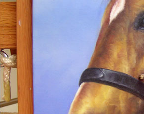 Affordable horse dog cat commission art portraits from photographs pets in pastel