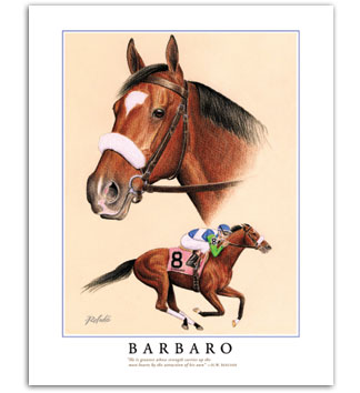 Barbaro thoroughbred racehorse art Kentucky Derby horse racing