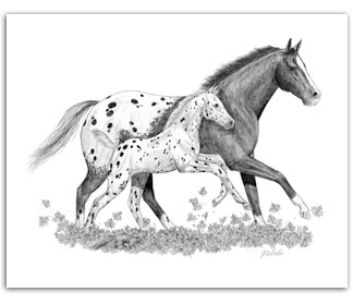 Appaloosa horse art equine art Fall by Rohde horse artists