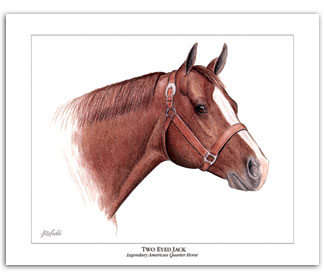 Two Eyed Jack Quarter Horse art AQHA by Rohde