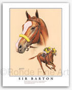 Sir Barton Triple Crown winners thoroughbred horse champions Rohde Fine Art