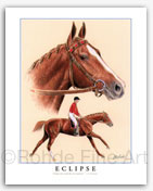 Eclipse famous thoroughbred horse racing art paintings