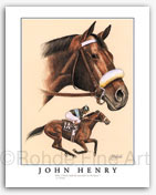 John Henry race horse limited edition thoroughbred art prints Rohde