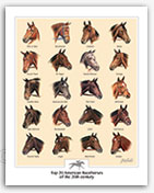 Thoroughbred horse racing champions art