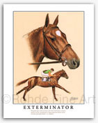 Exterminator Old Bones famous early racehorses art paintings of thoroughbreds