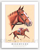 Discovery racehorse art painting pictures horse racing