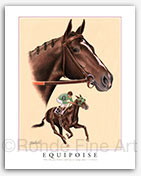 Equipoise Thoroughbred horse art horseracing prints paintings