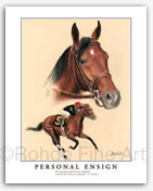 Personal Ensign thoroughbred horse art for sale