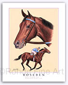 Roseben horse racing historical pictures art paintings