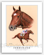 Ferdinand thoroughbred racehorse art pictures paintings