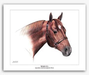 Wimpy P-1 American Quarter Horse art painting by Rohde