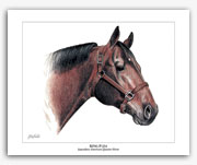 King P-234 famous Quarter Horse art paintings by Rohde