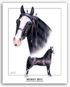 Merry Boy famous Tennessee Walkers stallion equine art artist gifts